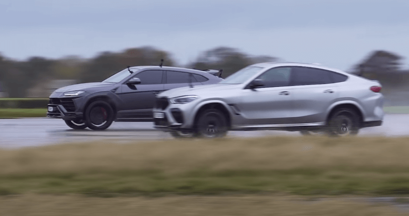 Lamborghini Urus против BMW X6M - кто быстрее?